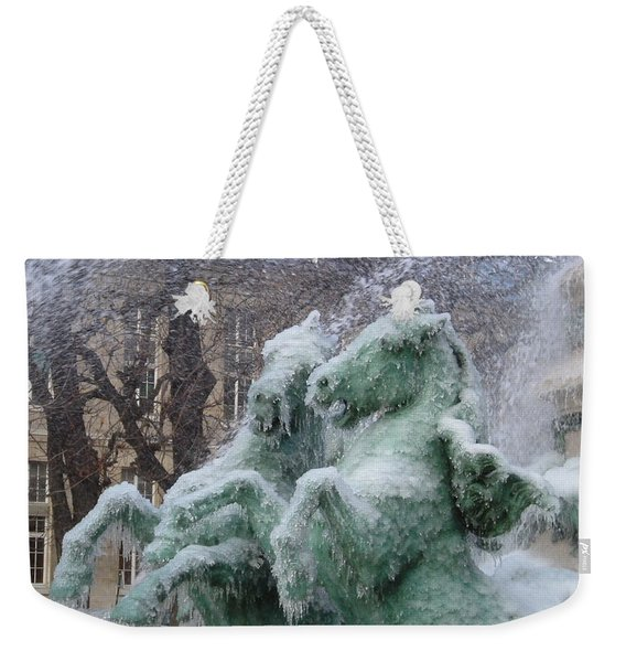 Paris Winter Weekender Tote Bag