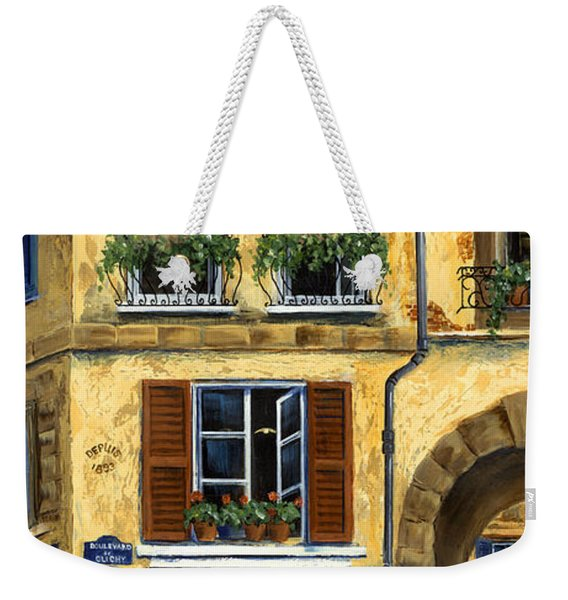 Parisian Bistro And Butcher Shop Weekender Tote Bag