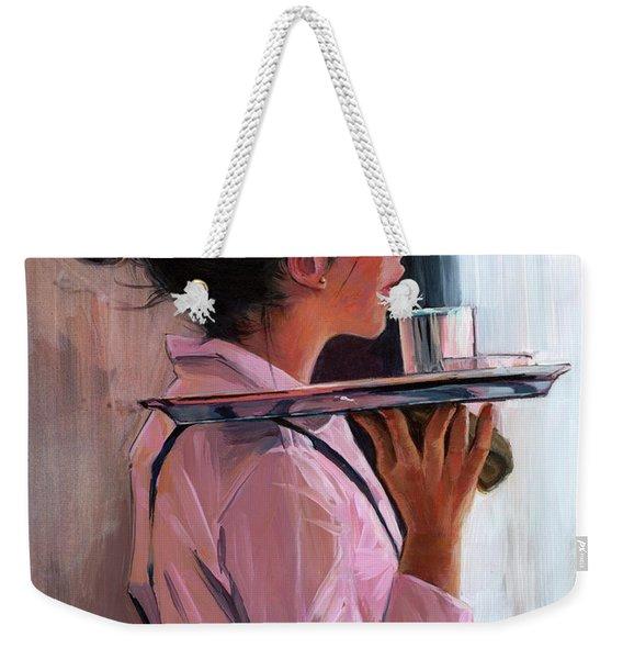 Parisian Waitress Weekender Tote Bag