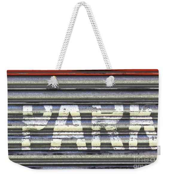 Park Here Weekender Tote Bag