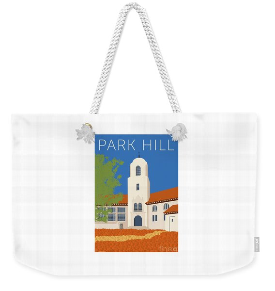 Park Hill Blue Weekender Tote Bag