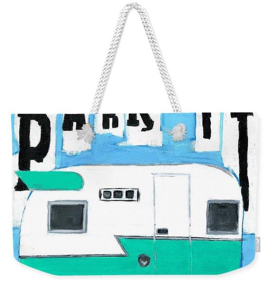 Park It-aqua Weekender Tote Bag