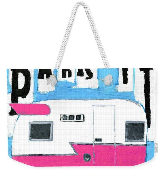 Park It- Pink Weekender Tote Bag