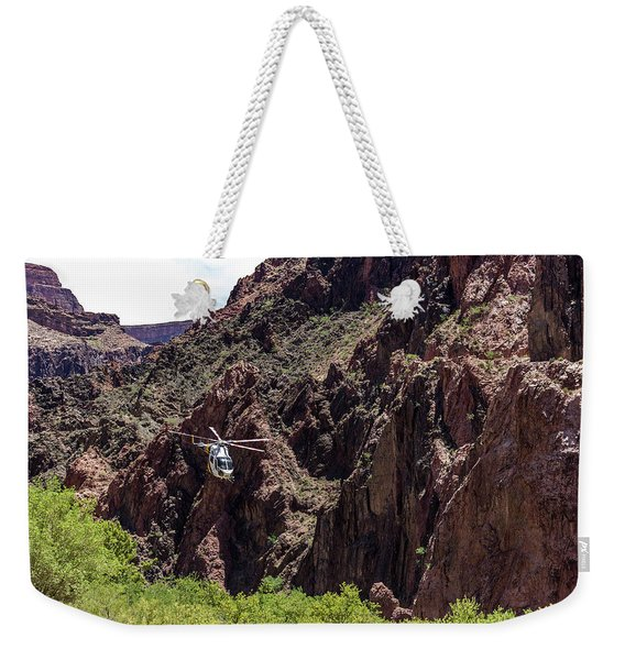 Park Service Helicopter In The Grand Canyon  Weekender Tote Bag