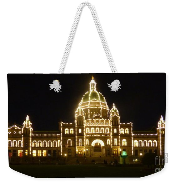 Parliament Building At Night - Victoria British Columbia Weekender Tote Bag