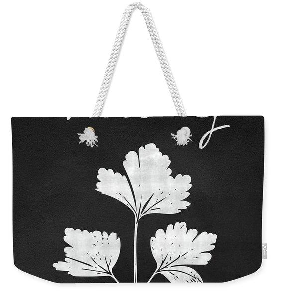 Parsley Black And White- Art By Linda Woods Weekender Tote Bag