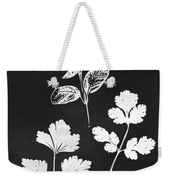 Parsley Cilantro Basil Leaves- Art By Linda Woods Weekender Tote Bag