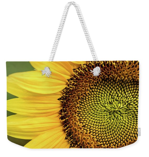 Part Of A Sunflower Weekender Tote Bag
