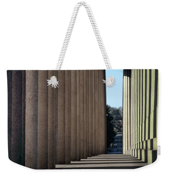 Parthenon Shadow Tunnel Weekender Tote Bag