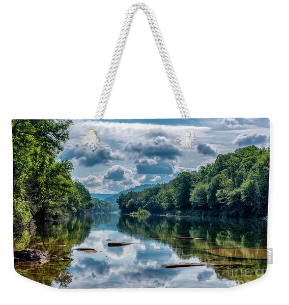 Partially Cloudy Gauley River Weekender Tote Bag
