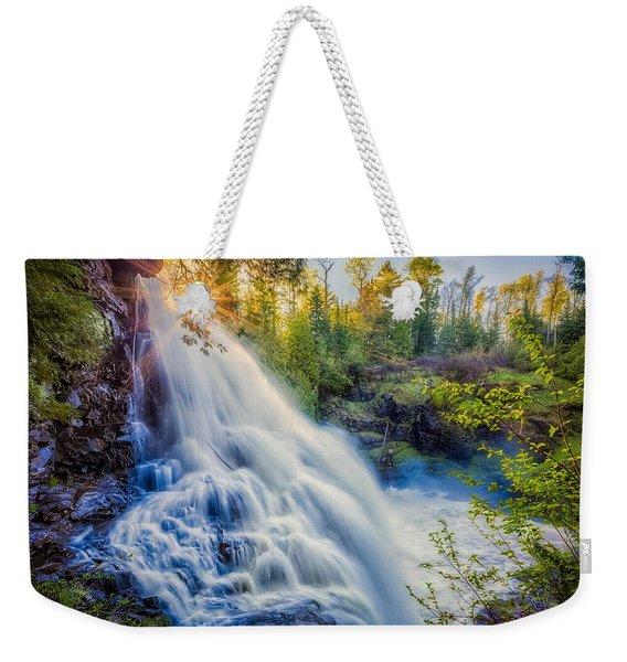 Partridge Falls In Late Afternoon Weekender Tote Bag
