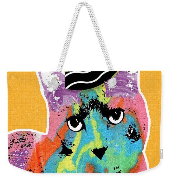 Party Cat- Art By Linda Woods Weekender Tote Bag