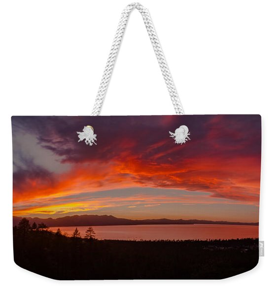 Party Rocking Lake Tahoe Sunset Weekender Tote Bag