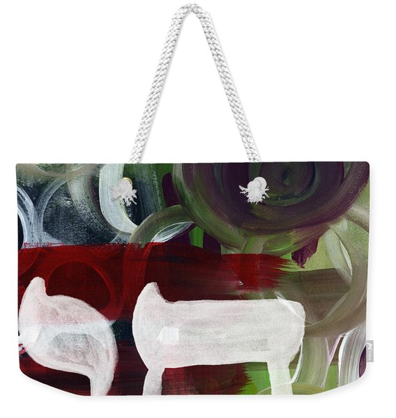 Passages 2- Abstract Art By Linda Woods Weekender Tote Bag
