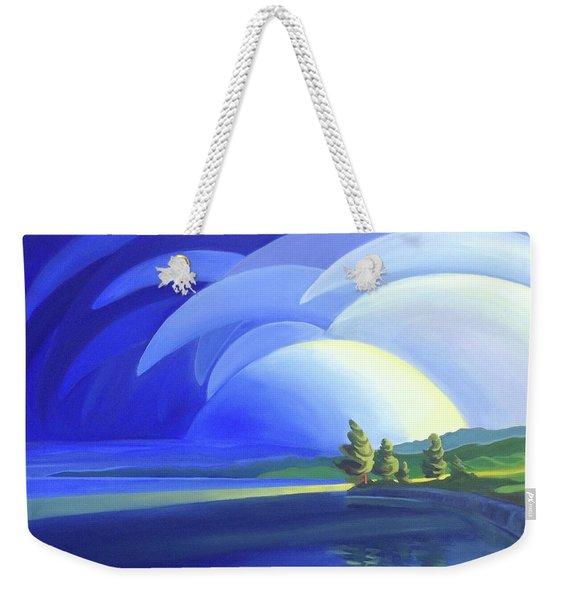 Passing Storm Weekender Tote Bag