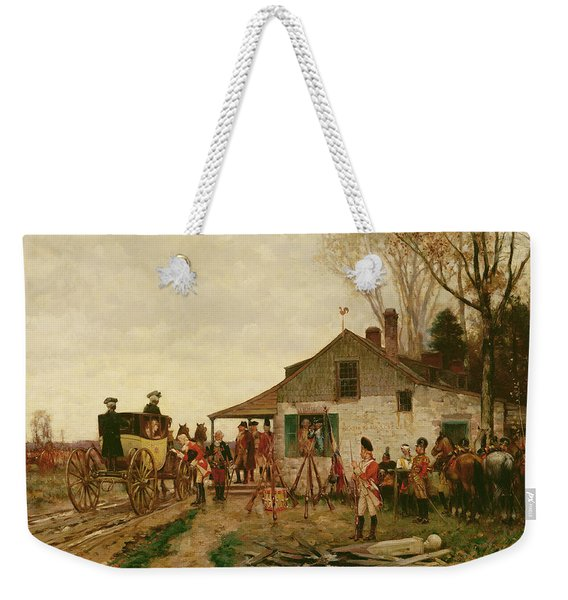 Passing The Outpost Weekender Tote Bag