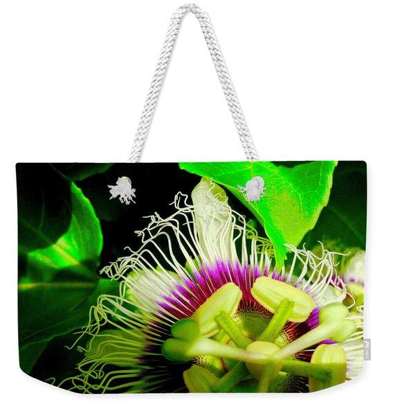Passion Flower 2 Reflecting Weekender Tote Bag