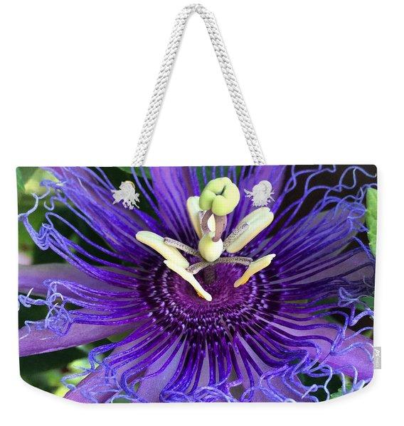 Passion Flower Weekender Tote Bag