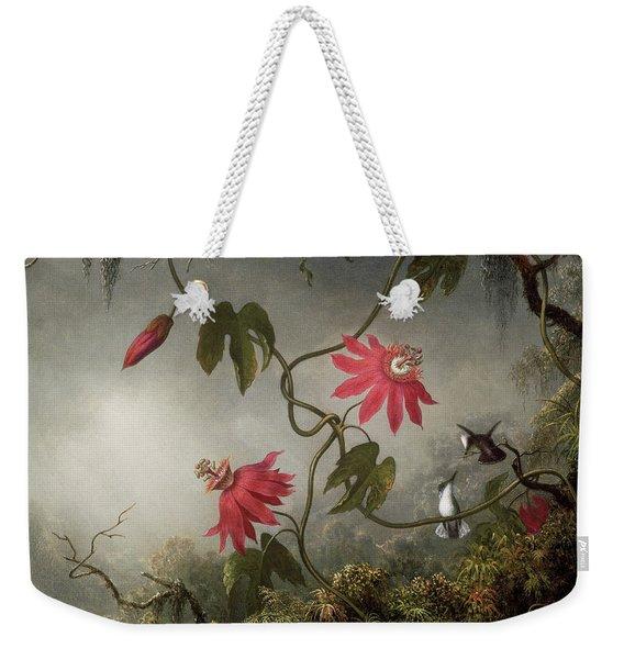 Passion Flowers And Hummingbird Weekender Tote Bag