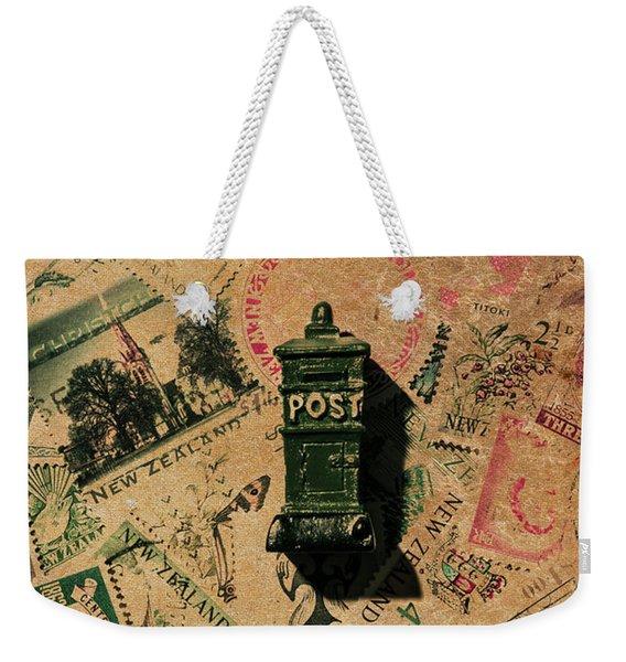Past Letters In Post Weekender Tote Bag