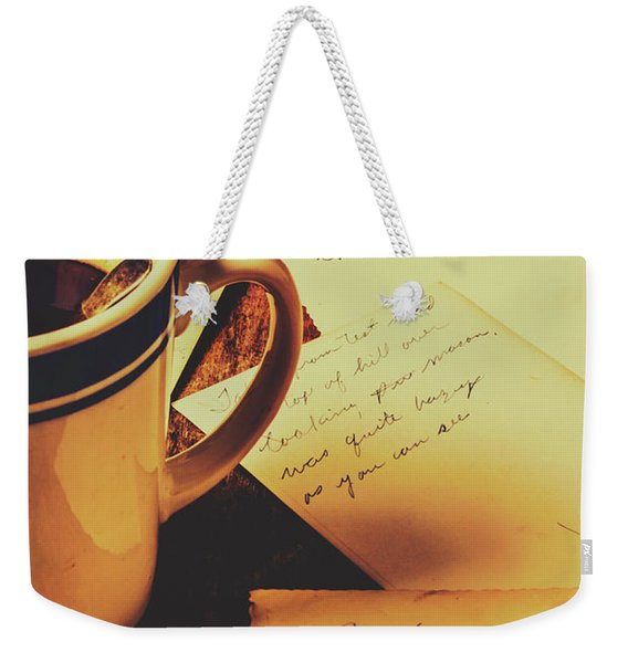 Past Postcard Preoccupations  Weekender Tote Bag