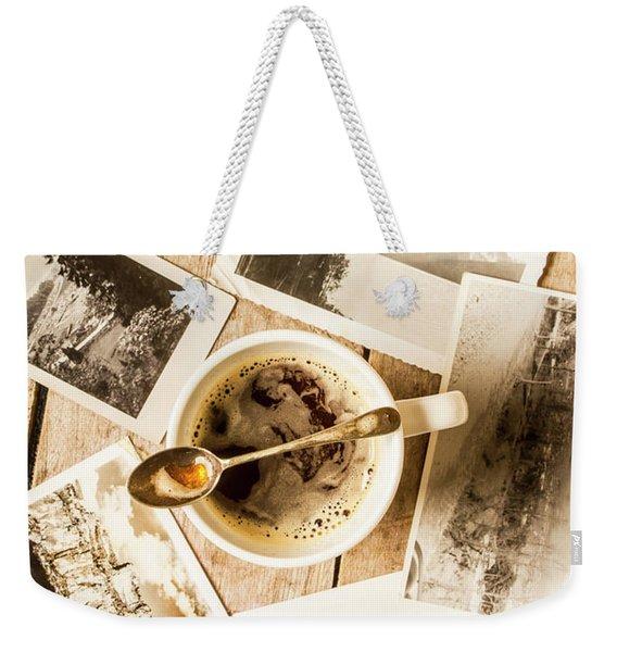 Past Time Tea Weekender Tote Bag