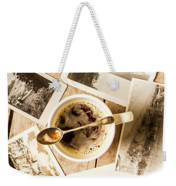 Past Time Tea Weekender Tote Bag