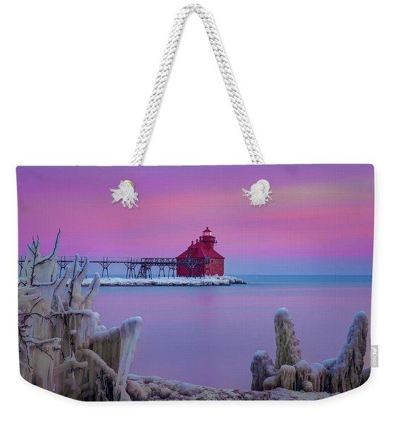 Pastel Lighthouse Weekender Tote Bag