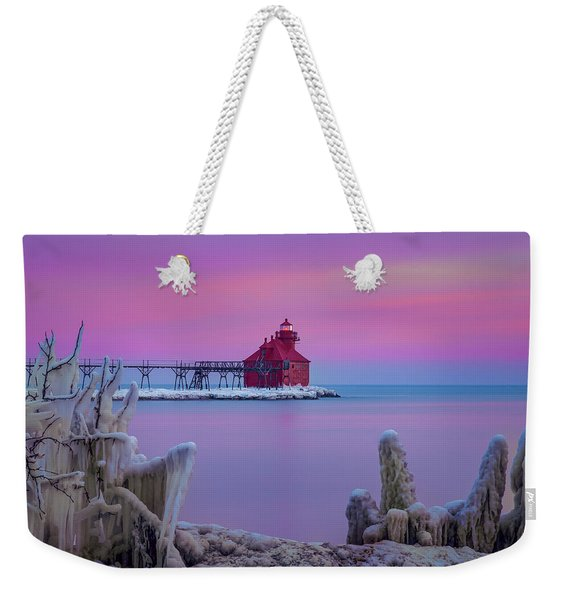 Pastel Lighthouse Weekender Tote Bag