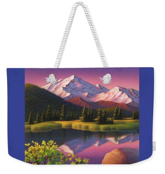 Pastel Mountain Weekender Tote Bag