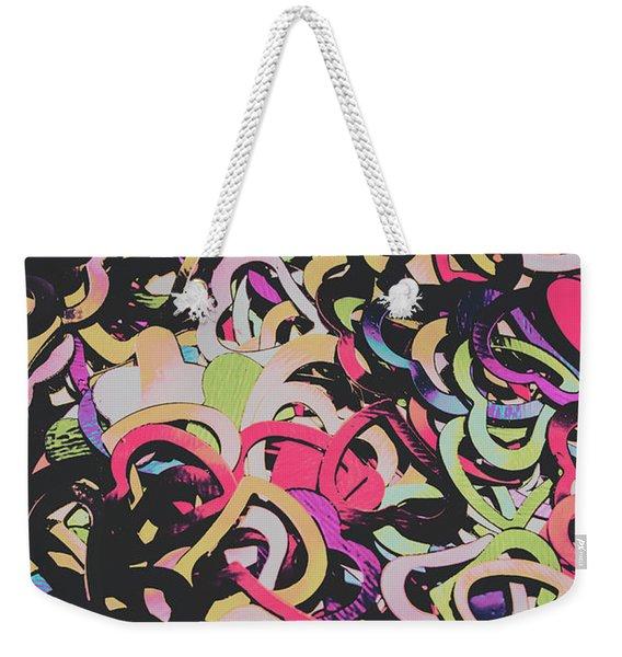 Pastel Pop Heart Weekender Tote Bag