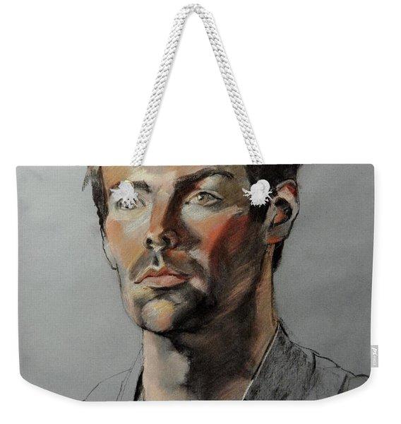 Pastel Portrait Of Handsome Guy Weekender Tote Bag