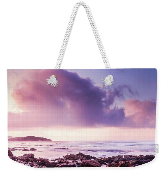 Pastel Purple Seashore Weekender Tote Bag