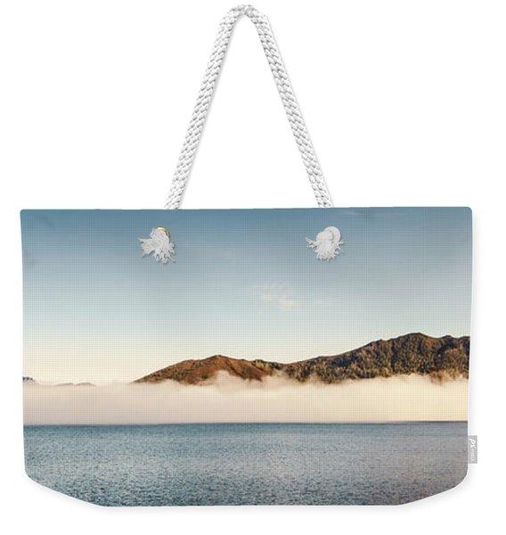 Pastel River Panorama Weekender Tote Bag