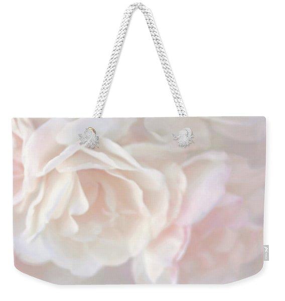 Pastel Rose Flowers Weekender Tote Bag