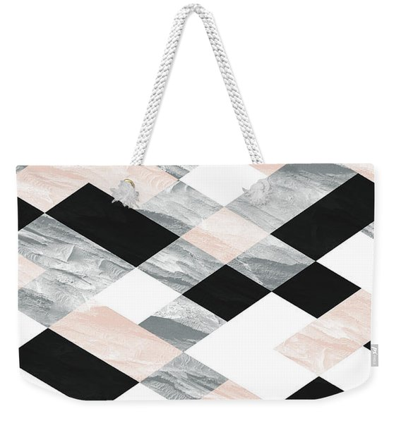 Pastel Scheme Geometry Weekender Tote Bag