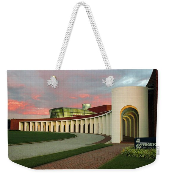Pastel Skies Above The Ferguson Center For The Arts Weekender Tote Bag