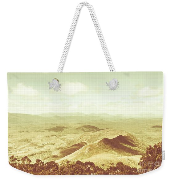 Pastel Tone Mountains Weekender Tote Bag