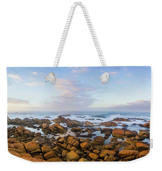 Pastel Tone Seaside Sunrise Weekender Tote Bag