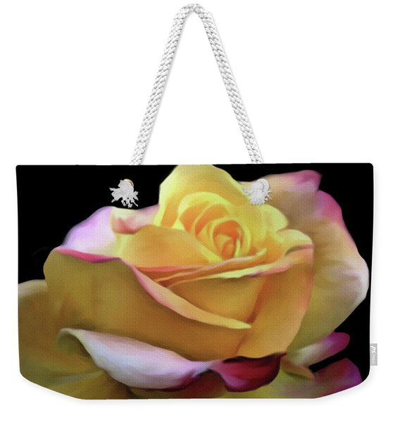 Pastel Yellow Rose Canvas Proofed Weekender Tote Bag