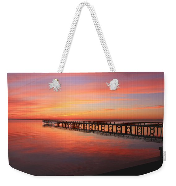 Pastels At The Hilton Fishing Pier  Weekender Tote Bag