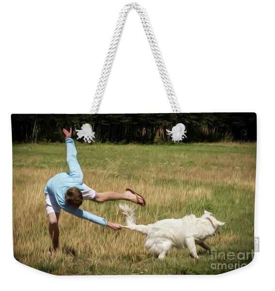 Pasture Ballet Human Interest Art By Kaylyn Franks   Weekender Tote Bag