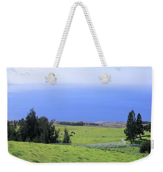 Pasture By The Ocean Weekender Tote Bag