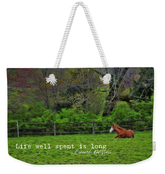 Pasture Napping Quote Weekender Tote Bag