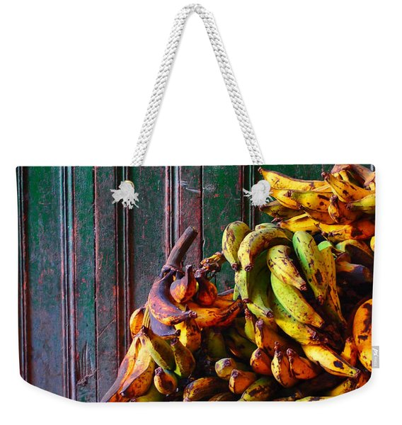 Weekender Tote Bag featuring the photograph Patacon by Skip Hunt
