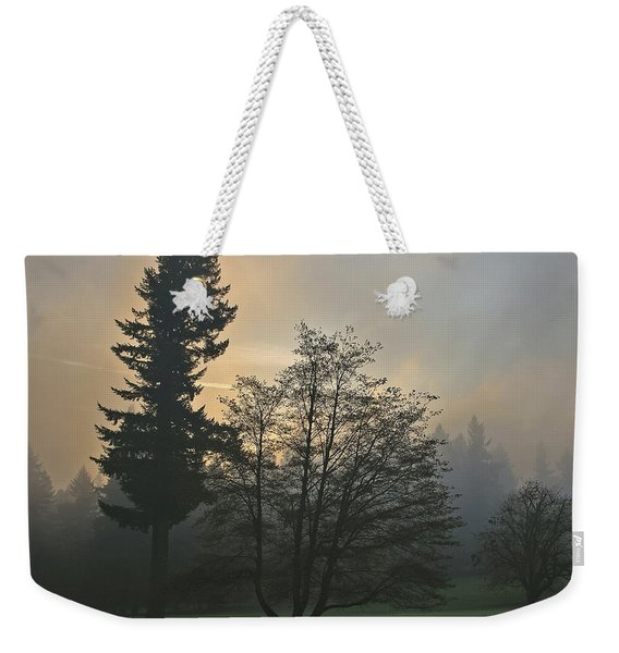 Patchy Morning Fog Weekender Tote Bag