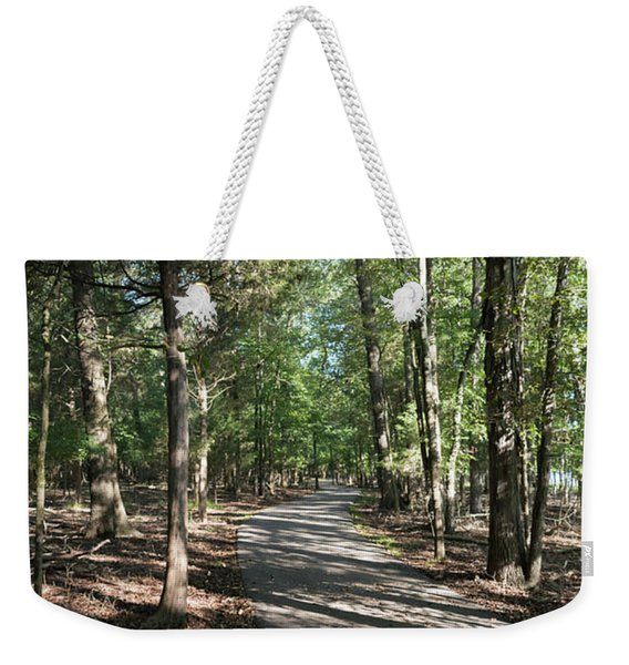 Path Around Lake Weekender Tote Bag