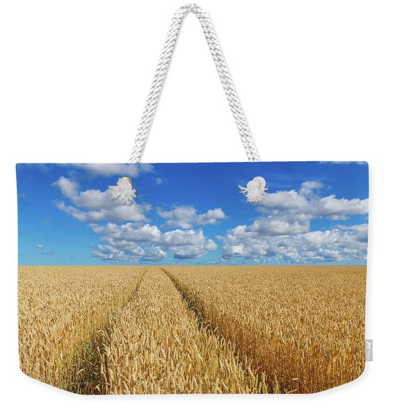 Path In A Golden Wheat Field Weekender Tote Bag