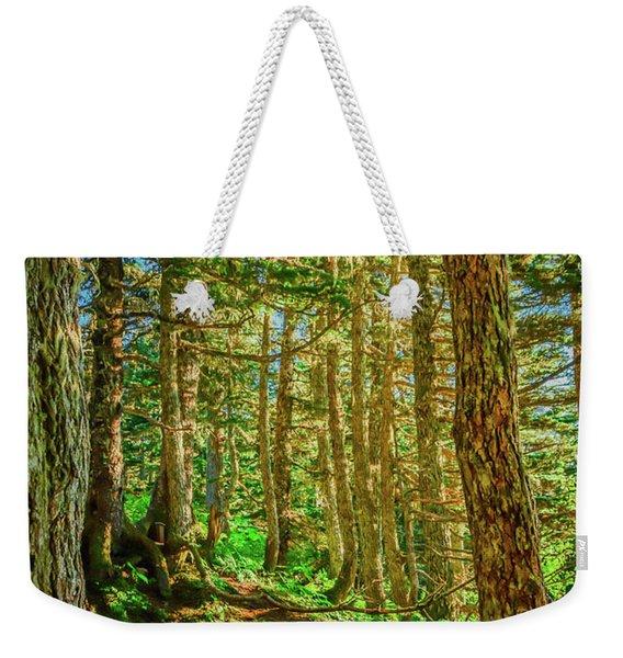 Path In The Trees Weekender Tote Bag