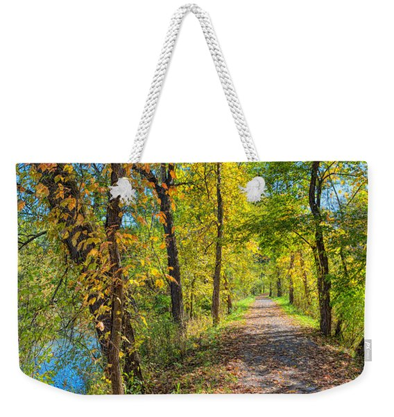 Path Through Fall Weekender Tote Bag